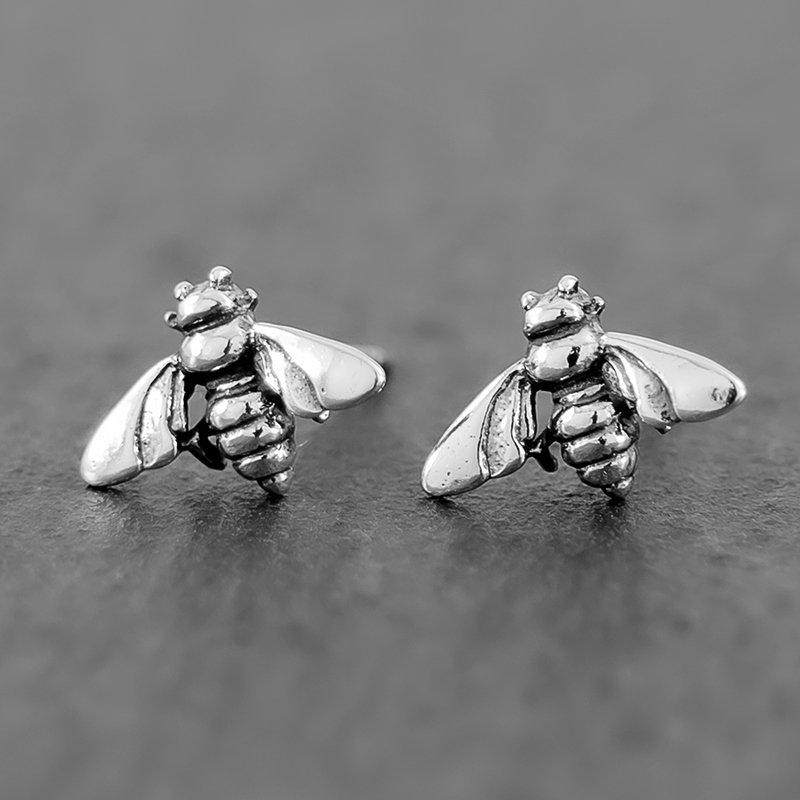 Bee-Earrings-Dainty-Stud