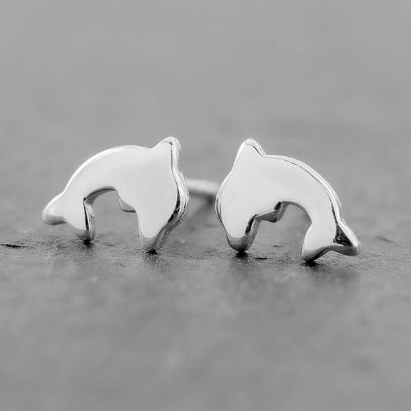 Dolphin Earrings Dainty Studs