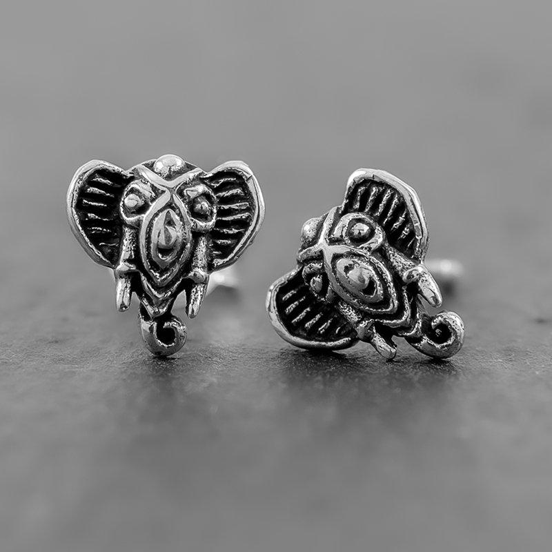 Elephant-Earring-Studs