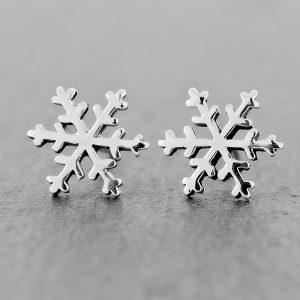 Snowflake Earrings Studs