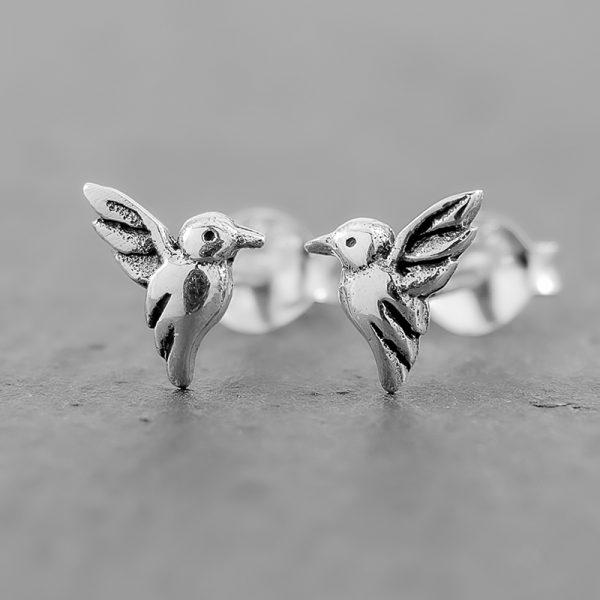 Hummingbird Earrings Dainty Studs
