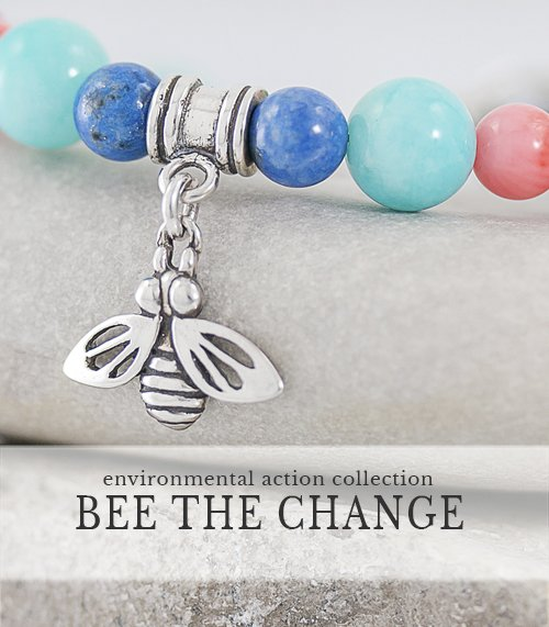 Bee charm bracelet gives back to charity, Artisan Sterling and Gemstone Jewelry,