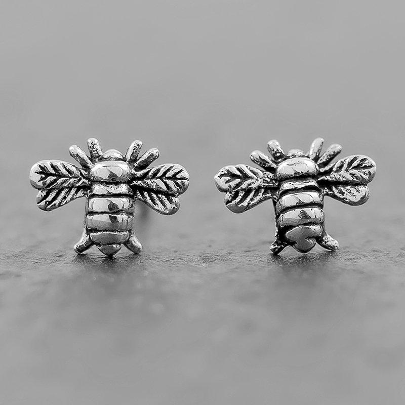 Bee-Earrings-Dainty-Sterling-Studs
