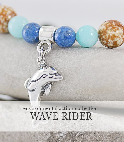 Dolphin Charm bracelet gives back to charity, Artisan Sterling and Gemstones Jewelry,