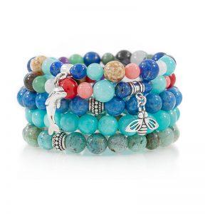 Stacking Stretch Bracelets Gemstones