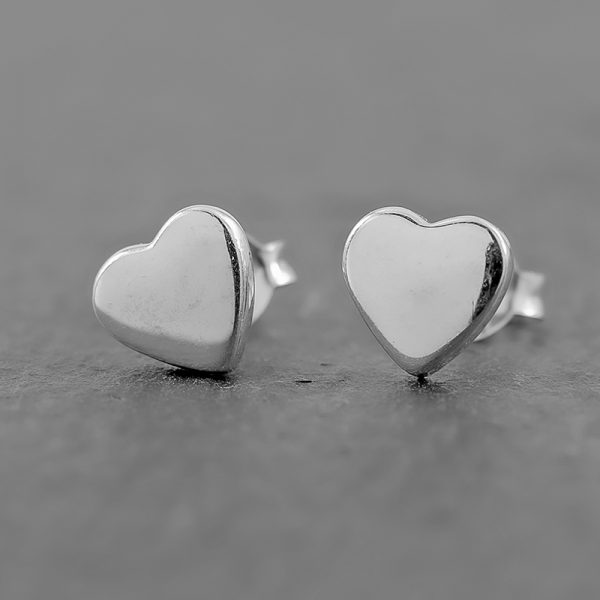 Heart Earrings dainty stud