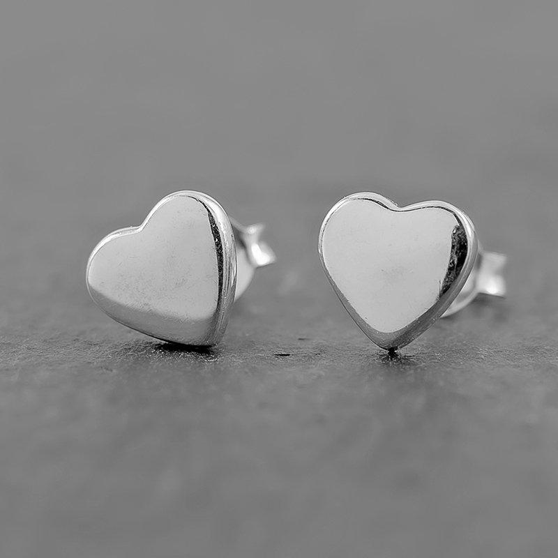 Heart-earrings-dainty-studs-sterling-silver