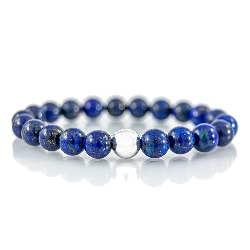 Lapis-Lazuli-gemstone-bracelet-stretch