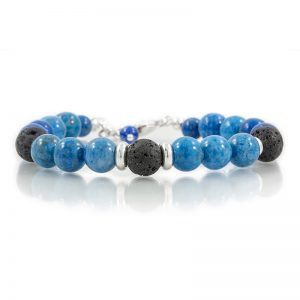 Demi Lapis Lazuli Gemstone Oil Diffuser Bracelet