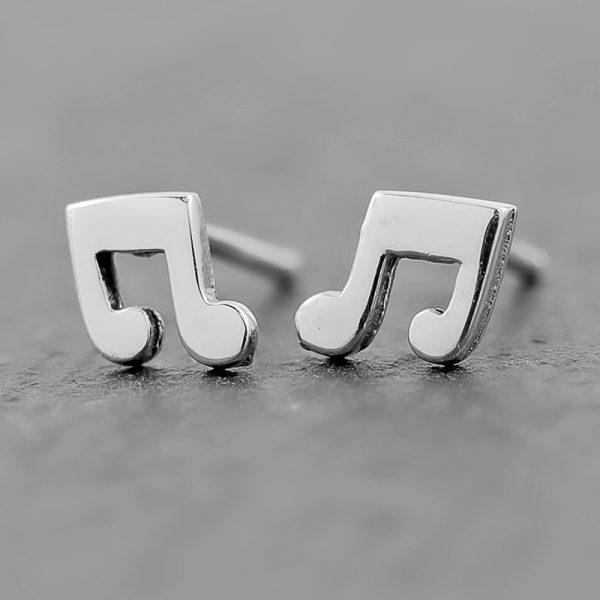 Music Note Earrings Studs