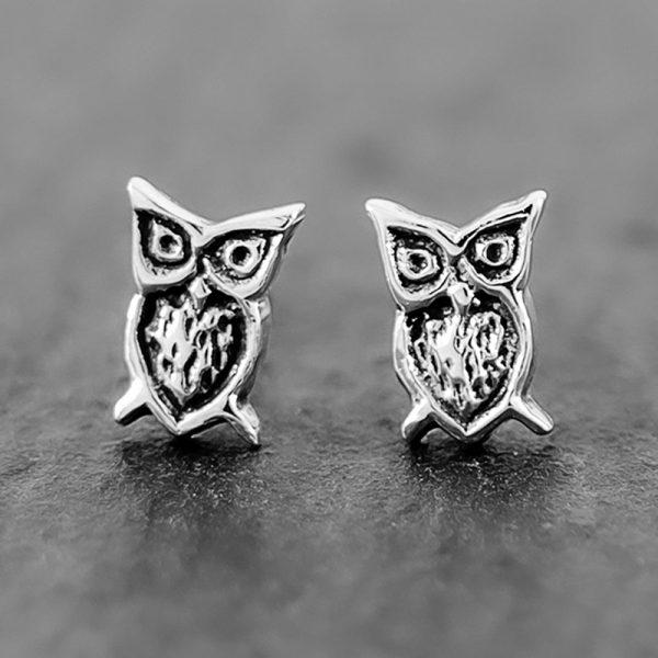 owl earrings studs