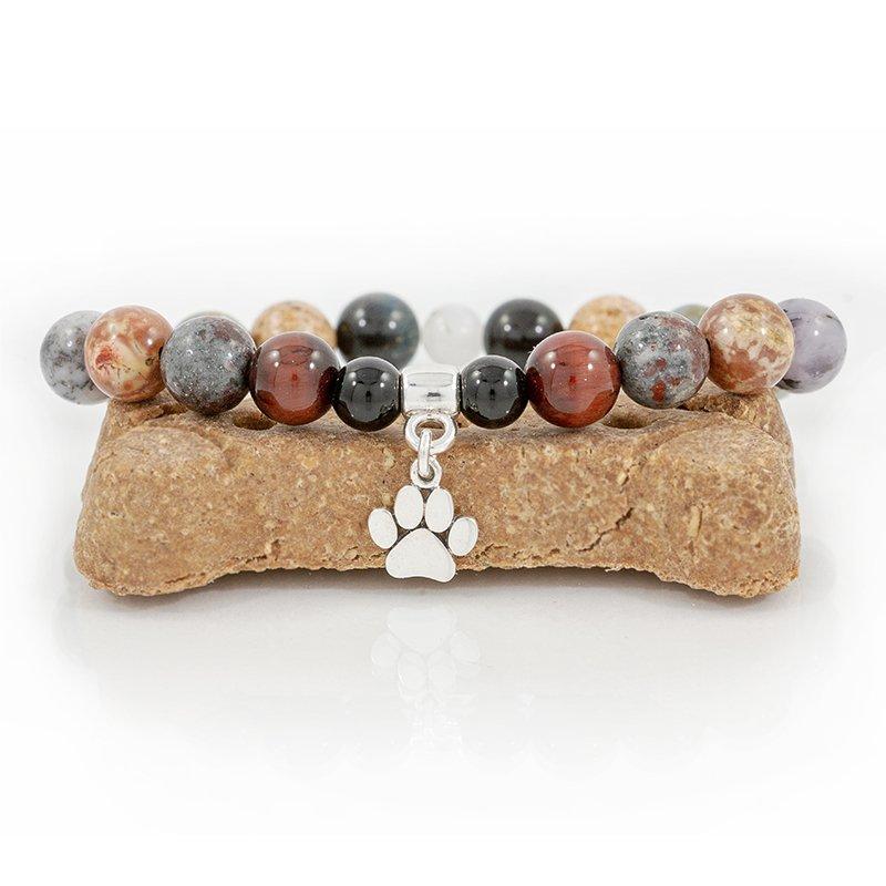 Paw-print-charm-bracelet-stretch