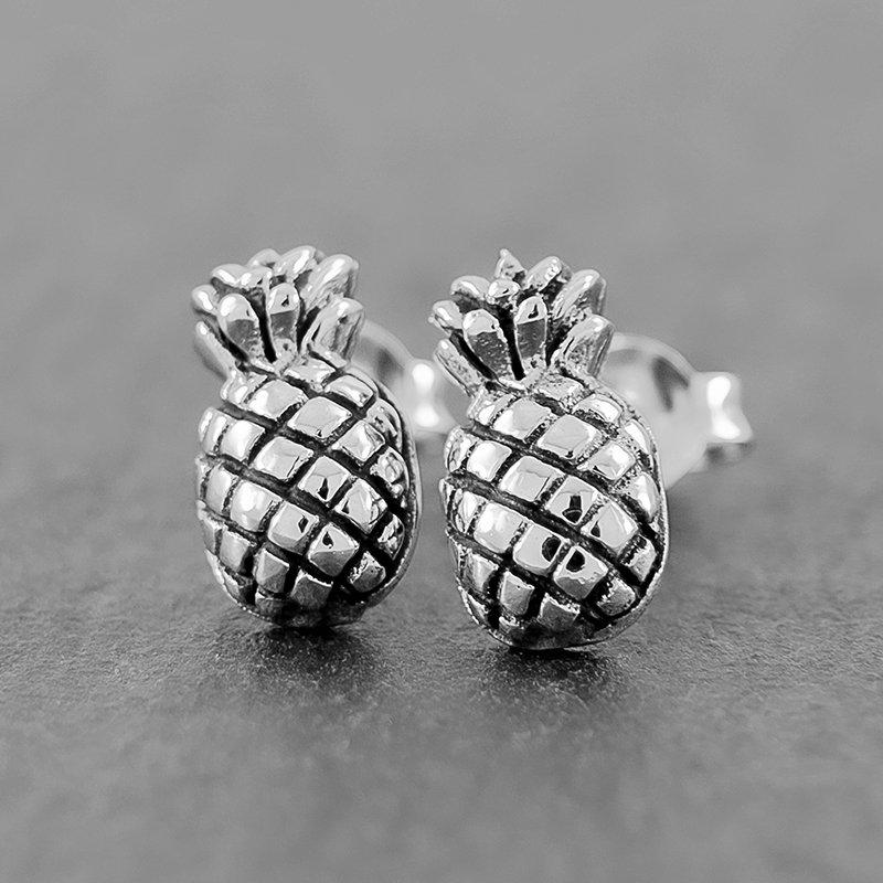 Pineapple-Earrings-Studs