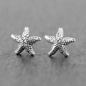 Starfish Earrings Sterling Studs