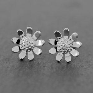 Sunflower Earrings Sterling Studs