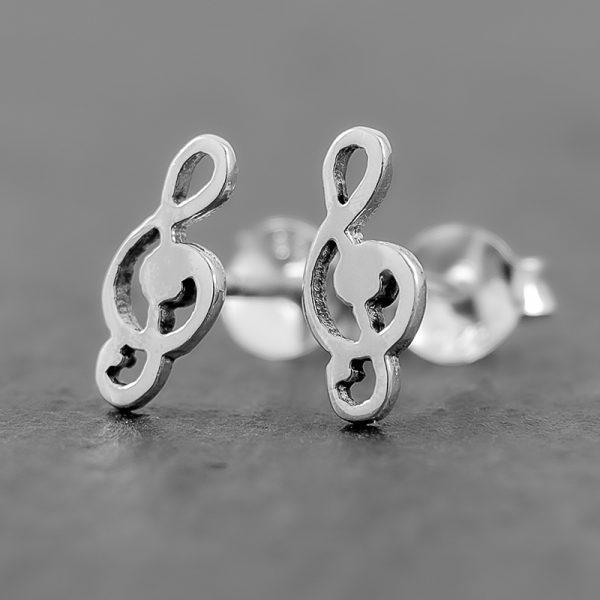 Treble Clef Earrings Stud