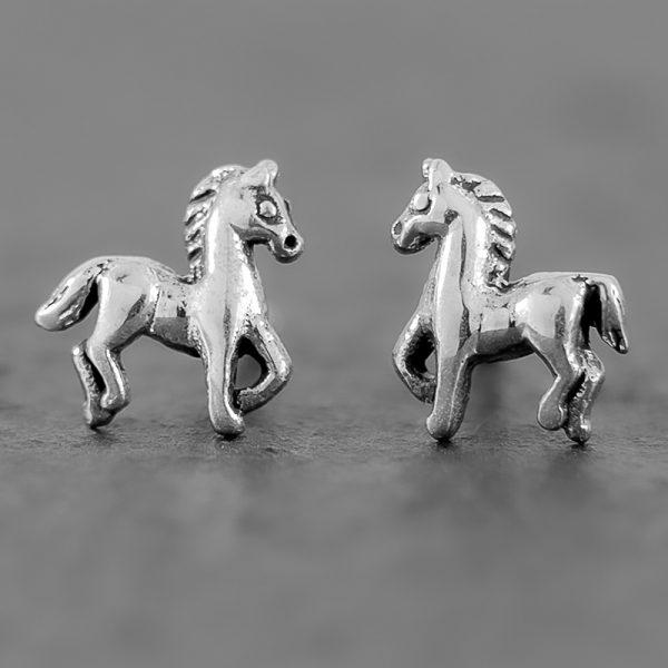 horse earrings sterling silver
