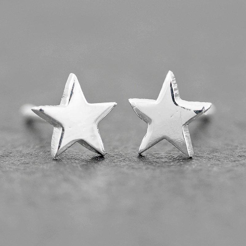 6mm-Star-Earrings-Sterling-silver-stud