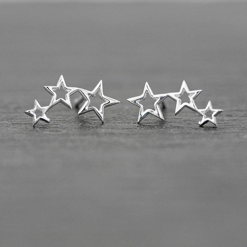 Shooting-Star-Studs-Earrings-Sterling-Silver